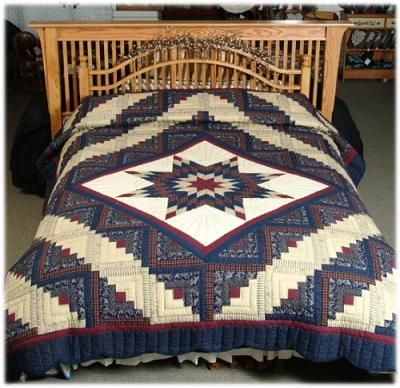 11 best Lone star quilts images on Pinterest | Lone star quilt ... : lone star log cabin quilt pattern - Adamdwight.com