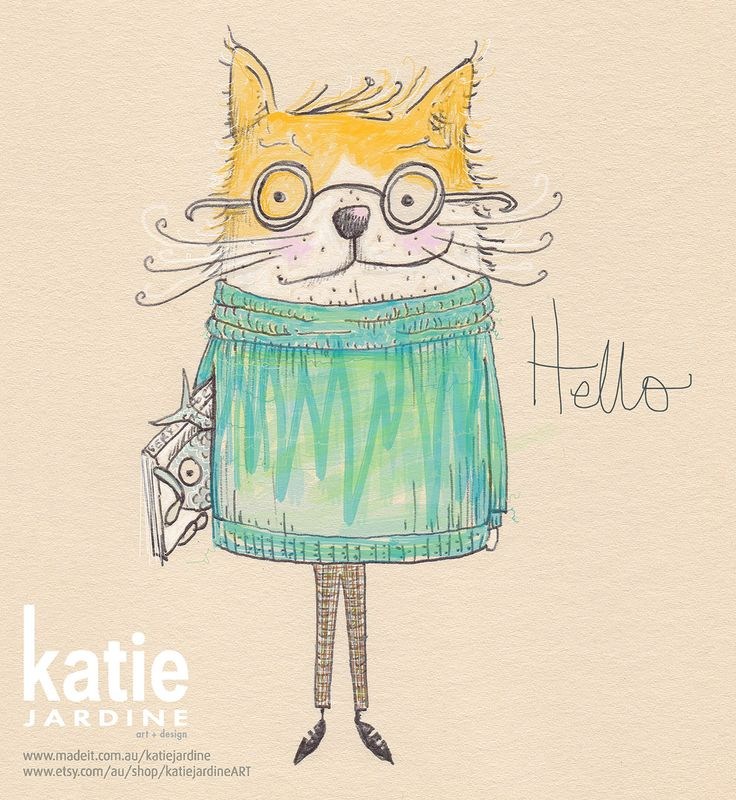 cat illustration, sir kitty kat, I loved this fellow appearing on my page to say... hello
