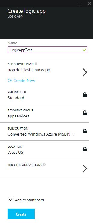 Azure App Service - Create Logic App