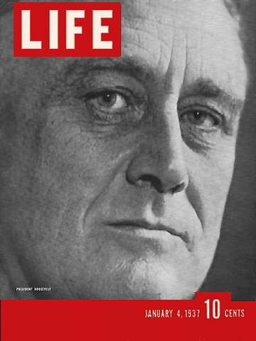 LIFE Magazine January 4, 1937 - President Franklin D. Roosevelt