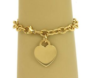 18K Gold Charms for Bracelets | ... TIFFANY & CO. 18K YELLOW GOLD LADIES CHARM BRACELET W/ HEART CHARM