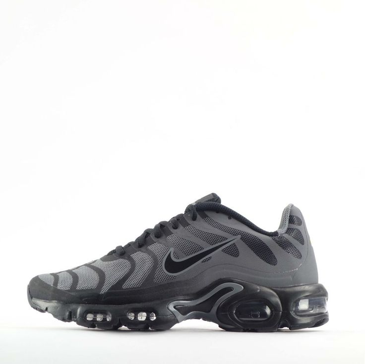 Nike Air Max Plus Hyperfuse Tuned TN  Mens Trainers Shoes Grey/Black #Nike #CasualTrainers
