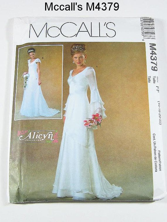 14 best wedding dress patterns images on pinterest for Wedding dress sewing patterns free