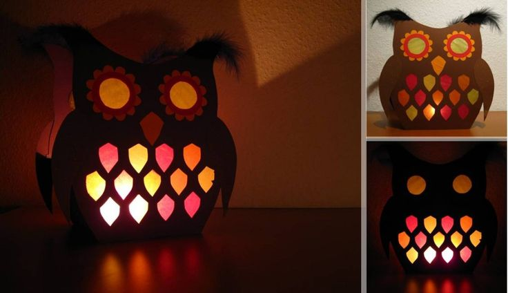 Owl lantern craft idea for St. Martin's Day parade