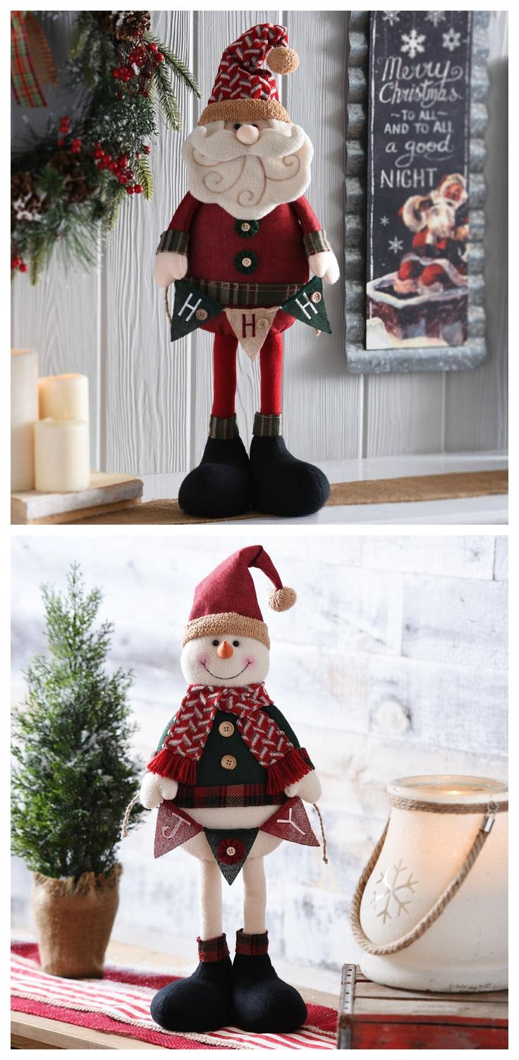 It's all in the details! This Christmas, add a Rustic Plush Santa or Snowman to…