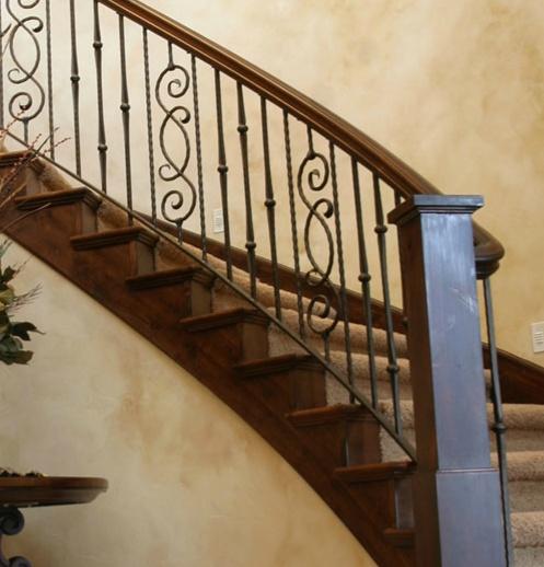 47 Stair Railing Ideas: Iron Stair Railing