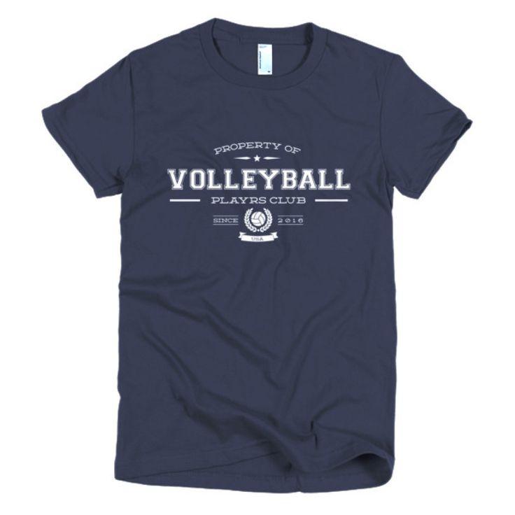 PLAYRS Club Women's VolleyBall T-Shirt – Light