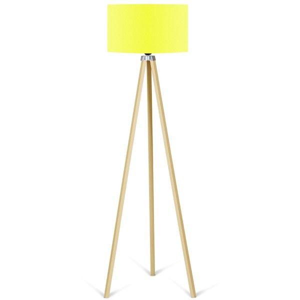 Stojací lampa se žlutým stínítkem Kate Louise Naturel
