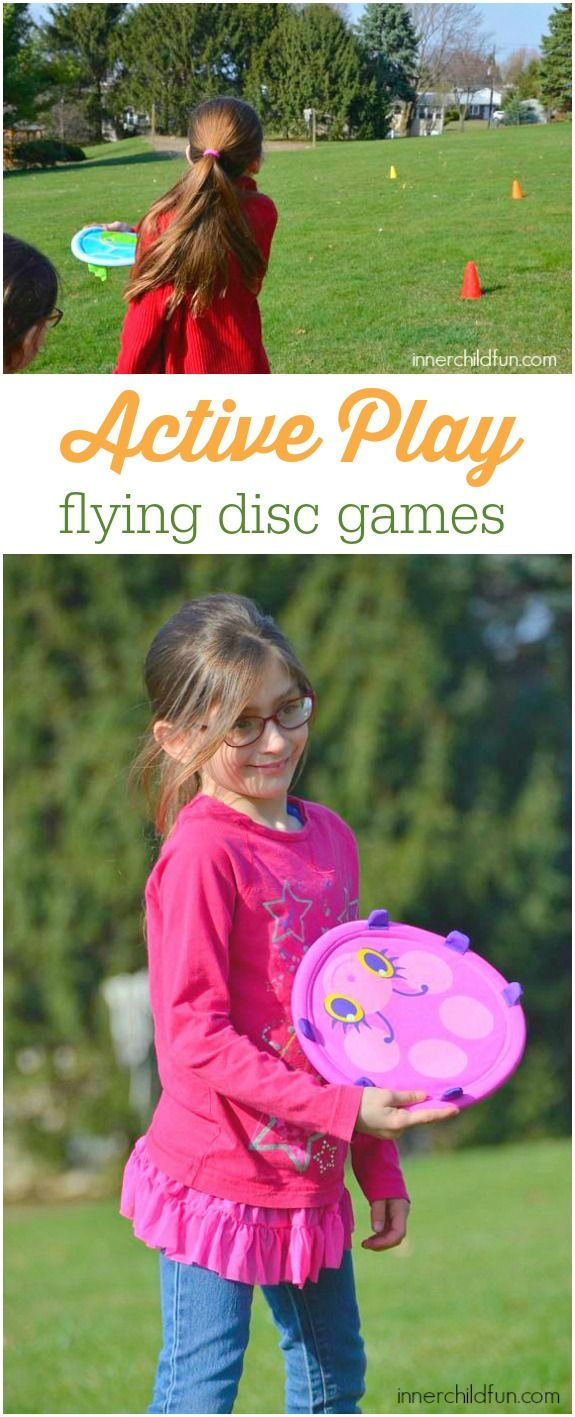 Active Play - 6 Flying Disc Games: Do your kids have lots of extra energy? Are you looking for a few easy activities for active playtime fun?? These flying disc games are quick and easy to set up, and most can be played right in your own backyard or a local park. *Love this collection of ideas!