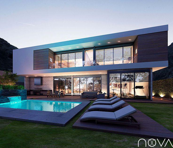 M s de 25 ideas incre bles sobre fachadas de casas for Design moderno casa contemporanea con planimetria