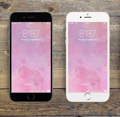 """Pink Watercolour"" iPhone 6 digital wallpaper/creative background by LeMounir"