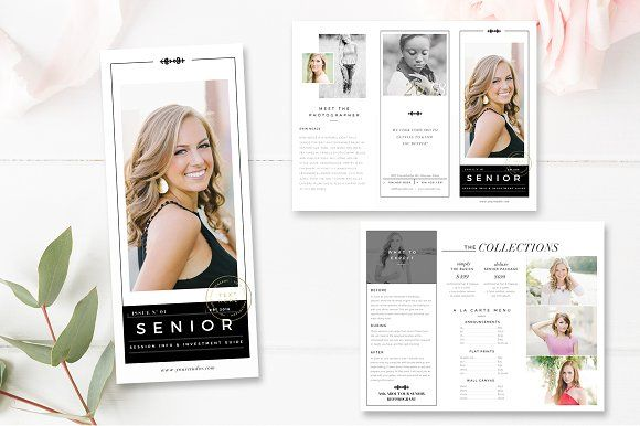 Senior Photography Brochure Template by By Stephanie Design on @creativemarket