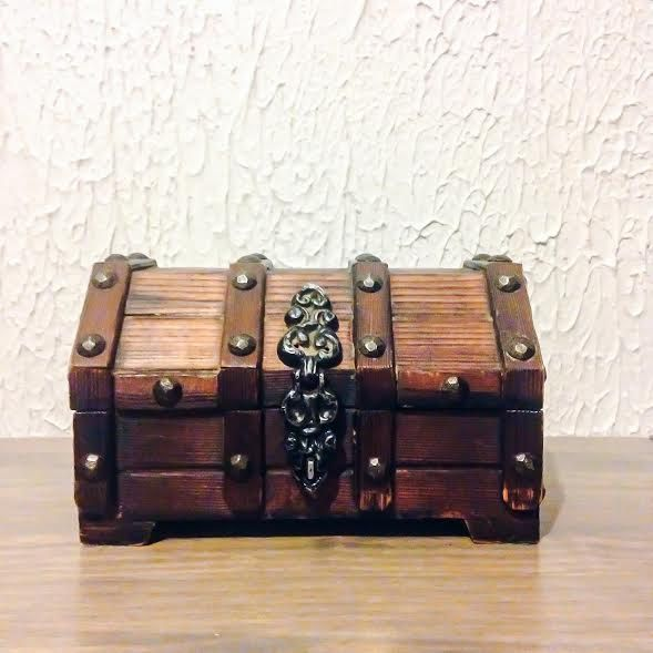 Vintage Industrial Treasure Chest Jewelry Box by ThinkHipsy