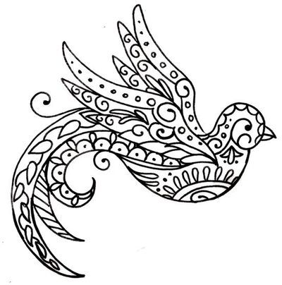 Paisley Bird Tattoo by ~Metacharis on deviantART