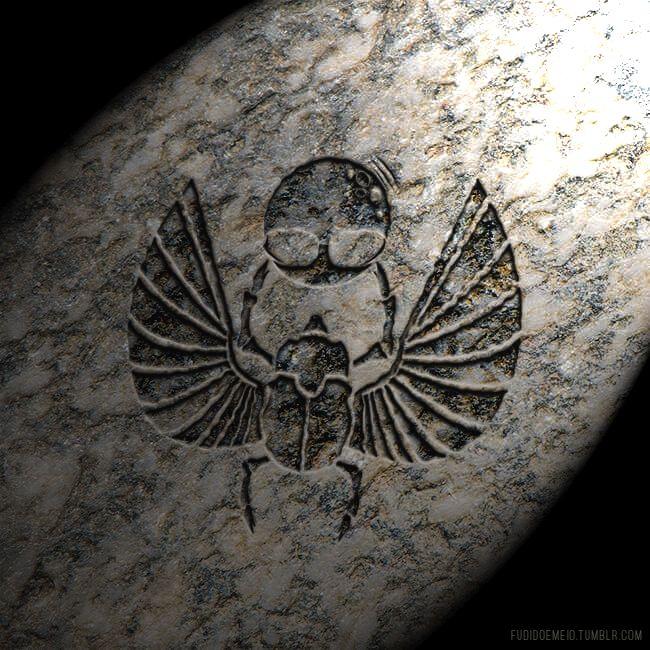 #Lua #Matrix #fudidoemeio #Tumblr #Egito #Egípcio #Granito #Escaravelho #Besouro