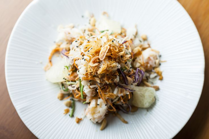 Crab Pomelo Salad, Vegetable Noodles, Mint, Lemon Oil & Crispy Vietnamese Crackers #soho #oldcompton  www.thehouseofho.co.uk