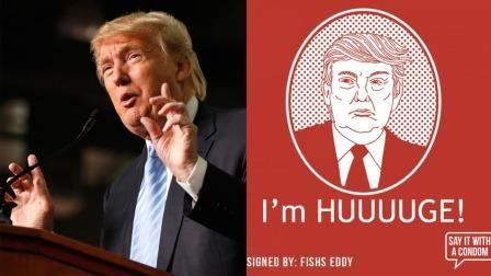 Ini Penampakan Wajah Donald Trump Dalam Kemasan Kondom : Penyataan rasis yang dilontarkan bakal calon presiden Amerika Serikat Donald Trump soal larangan muslim masuk Amerika Serikat rupanya melukai hati banyak orang. Sebut
