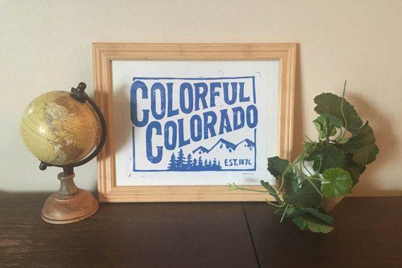 Colorful Colorado - Block Print