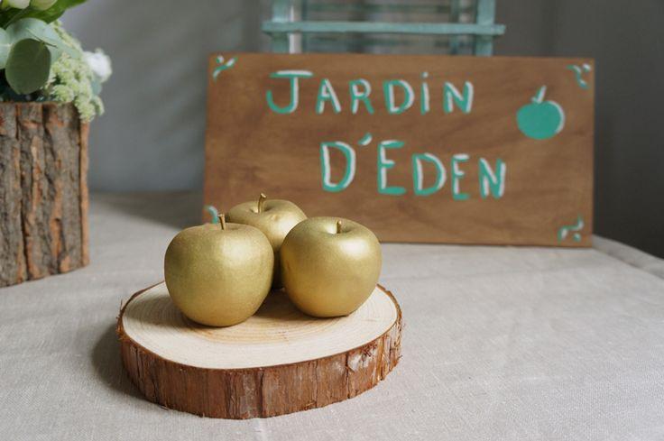 Eden Garden Wedding - Mariage Jardin d'Eden - Rustique chic - Menthe et Doré - Design et Papeterie : Dessine-moi une étoile  - Compositions florales : Fée moi une fleur
