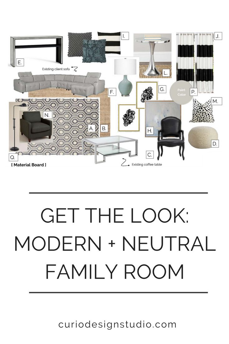 Starting out with a great layout is key to creating a functional space. This e-Design project was for a super fun, modern family who was building a brand new house. They needed help determining the proper furniture layout, selecting the right color scheme and finishing out the space with great accessories.  #moderndesign#familyroom#livingroomdecor#livingroomideas#interiordesignideas