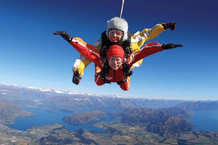 Is this on your bucket list, #skydiving over Lake Wanaka? #NZ #Wanaka #Infinityholidays