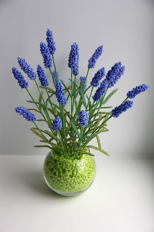 Лаванда Lavender Bead Bouquet