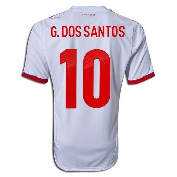 Youth Kids 2013 Mexico Giovani dos Santos 10 White by SOCCERAVENUE, $54.95