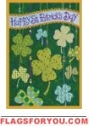 Floating Shamrocks Garden Flag