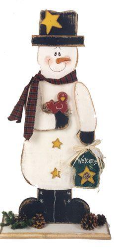 Cute Primitive Snowman