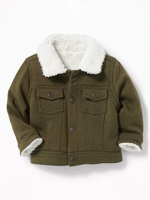 Sherpa-Lined Fleece Trucker Jacket for Baby