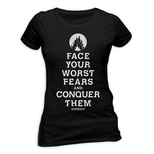 Camiseta chica Divergent (Divergente) Camiseta de chica basada en la novela adaptada al cine Divergent.