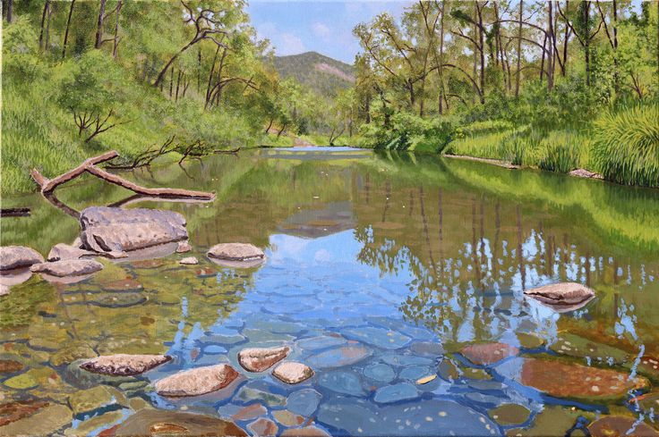 """Canungra Creek "" by Adrian Ball. Paintings for Sale. Bluethumb - Online Art Gallery"