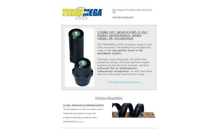 #teknomega #newsletter #isolatori #insulators