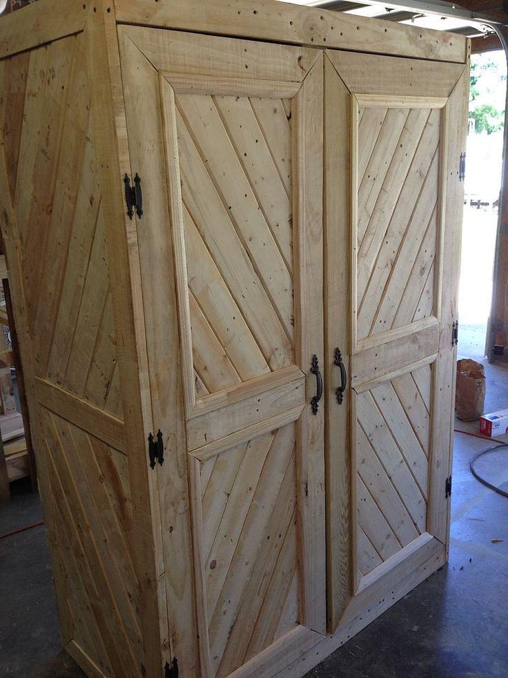 Repurposed Pallet Gun Cabinet For The Home Muebles De