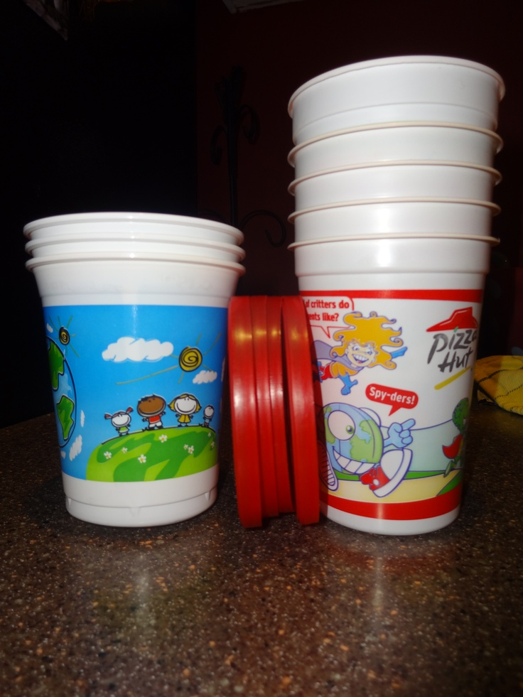Save kid's restaurant cups for Operation Christmas Child Shoeboxes!