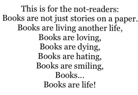 This is to the ones who don't read.  I hope, If you are a reader, you like this.  Enjoy! ~Sammie