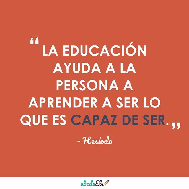 #CitasParaProfes para darle fuerza a los lunes  ¡Comparte y etiqueta!   #teachersofinstagram #spanishteaching #education #teacher #teaching #profedeele #spanish #teach #frases #profesores #maestros #spanishteacher #teacherlife #spanishclass #spanishlessons #spanish #profe #education #quotes Sígueme en instagram: https://www.instagram.com/abcdeele/