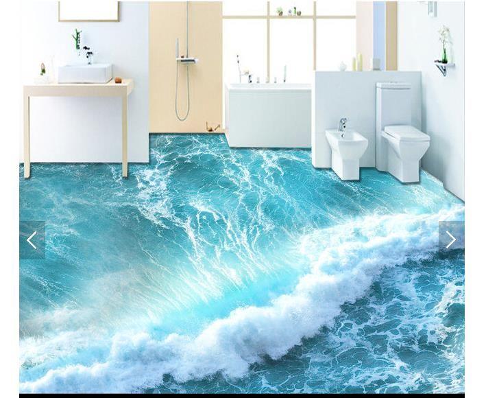 3D обои на заказ 3d пол живописи обои 3 д океанские волны воды пол обои 3d гостиная фото обои
