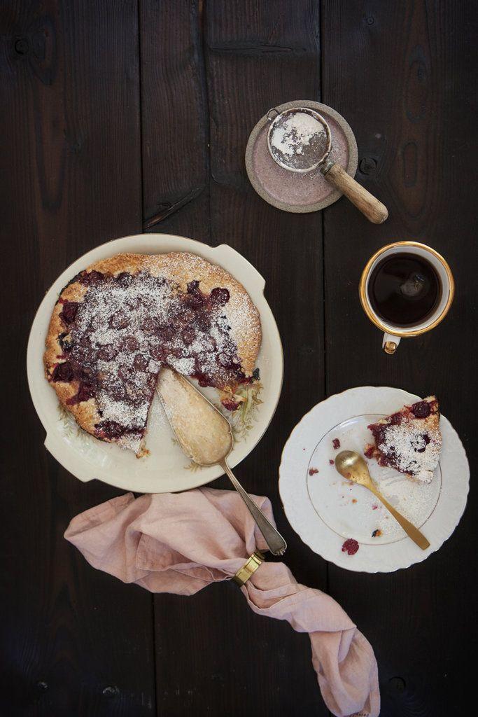 Łatwa tarta z wiśniami.