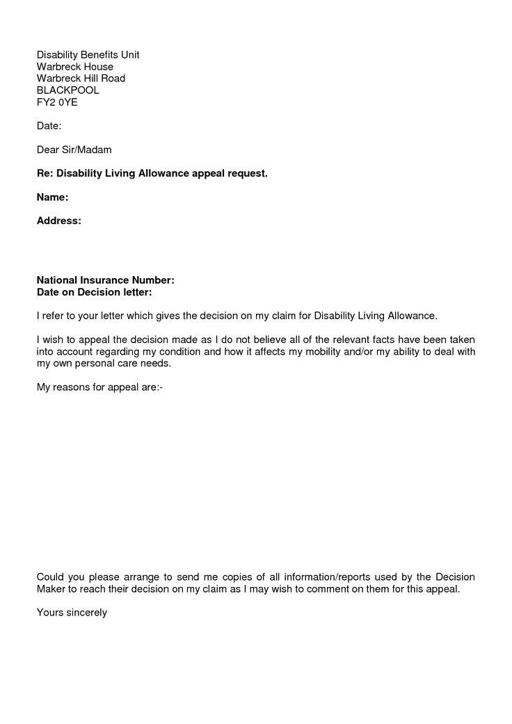 photos disability claim appeal letter sample insurance denial - disability application form