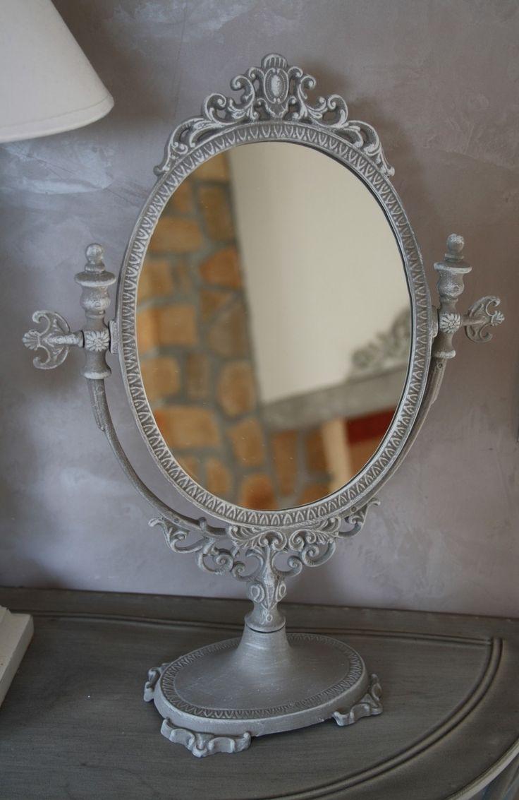 PSYCHE miroir ancien de table remis au gout du jour : Accessoires de maison par la-cage-a-deco