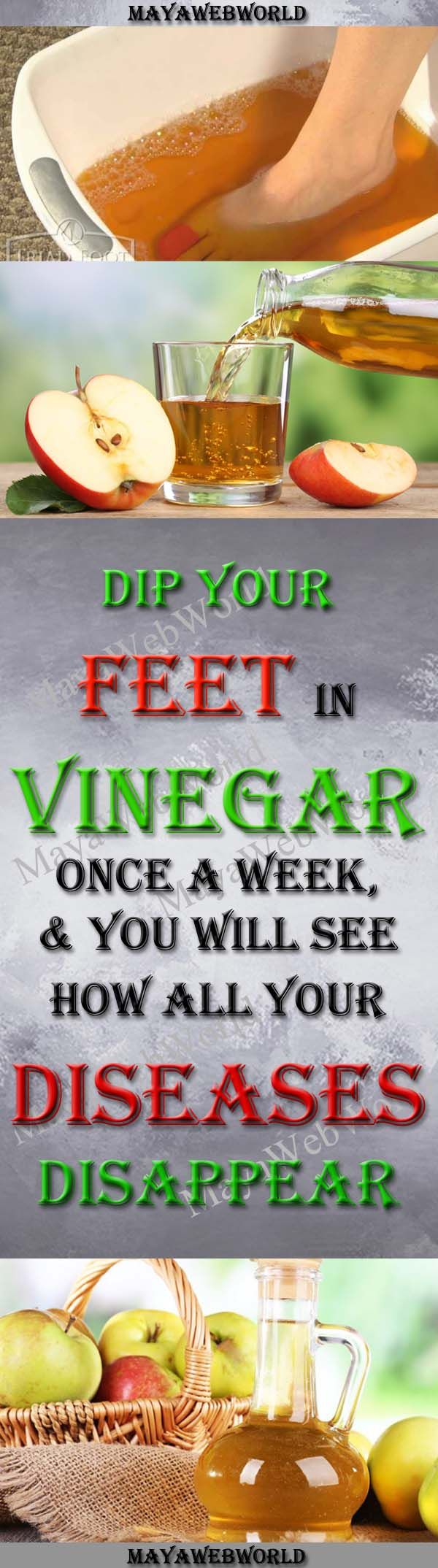 Dip Your Feet In Vinegar Once A Week, and You Will See How All Your Diseases Disappear – MayaWebWorld