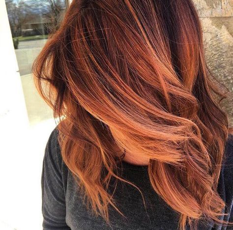 Balayage Dark Red hair color, copper hair color for auburn ombre brown amber balayage and blonde hairstyles