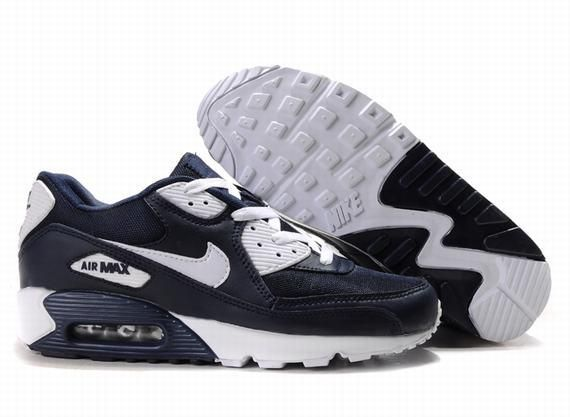 https://www.kengriffeyshoes.com/nike-air-max-90-navy-blue-white-p-705.html NIKE AIR MAX 90 NAVY BLUE WHITE Only $70.85 , Free Shipping!