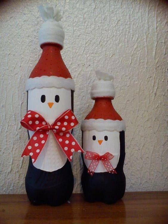 Decoraciones navide as con botellas de pl stico patio - Decoraciones de navidad ...