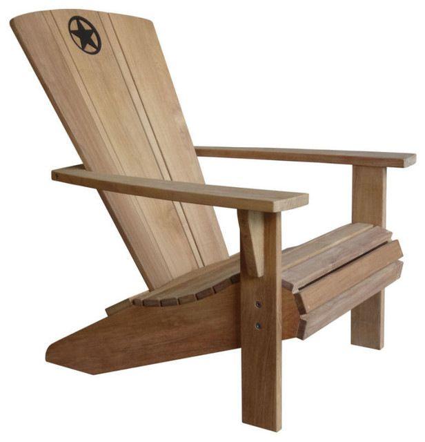 Lone Star Adirondack Chairs, Set of 2 contemporary-adirondack-chairs