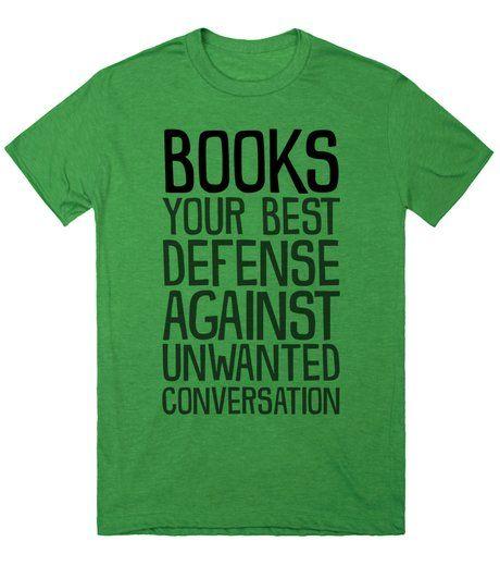 book defense conversation shirt
