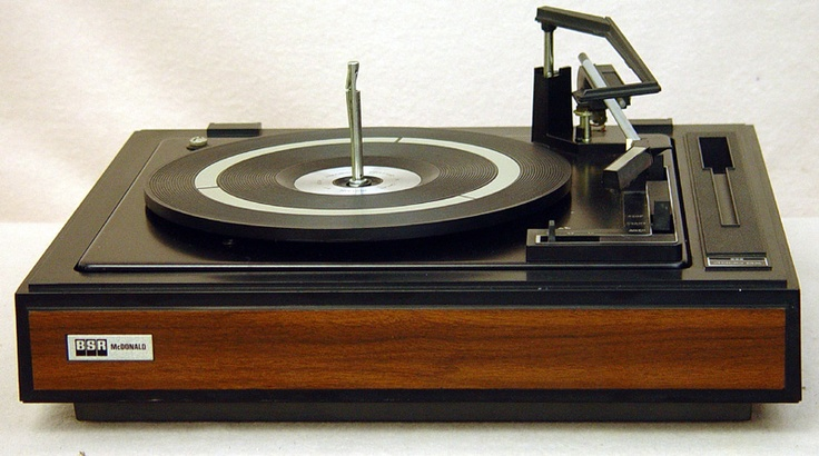 Inexpensive stereos had record changers, like this BSR ...
