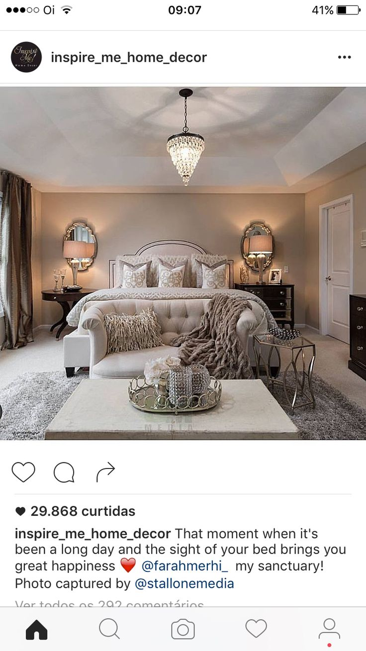 I like the idea of the mirrors behind the lamps and having nothing behind the bed