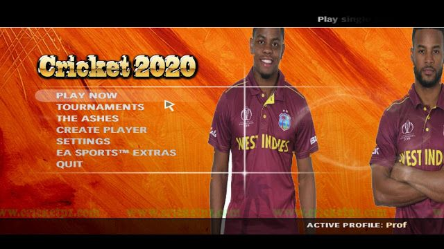Main Menu 2020 For Ea Sports Cricket 07 Made By Cricket Patches Zone Main Golden Logo Cricket 2020 In 2020 Cricket Sport Ea Sports Sports